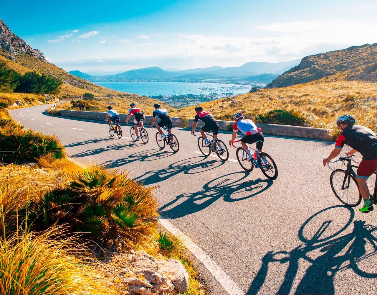 Sykkel, stemning, sykketurer, ferie, reise