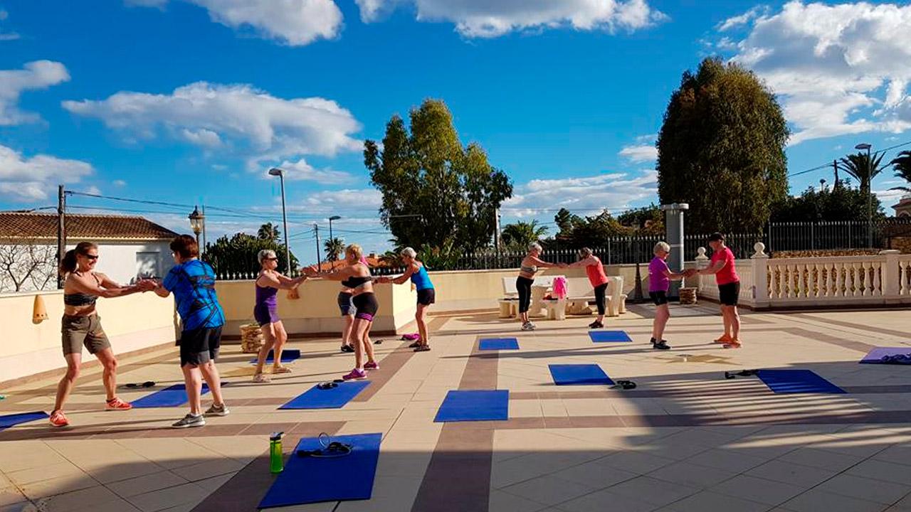 Treningsglede for eldre, treningsreise, altea, treningen