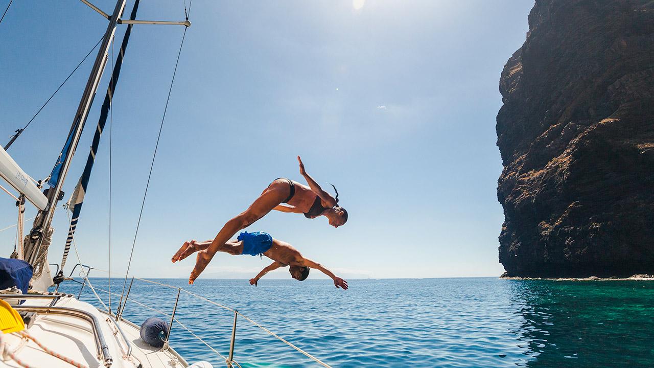 Treningsglede, Tenerife, treningsreise, båt
