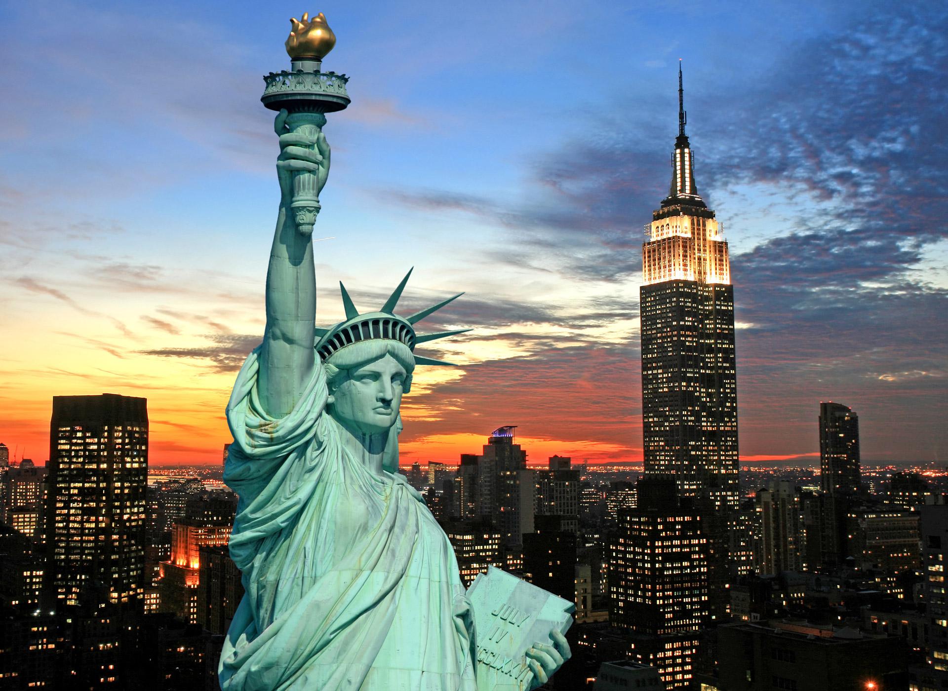 Usa, storby, frihetsgudinnen, firmatur, gruppetur, reise, opplevelse